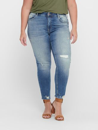 CURVY CARTARA LIFE REGUKAR CROPPED SLIM FIT JEANS