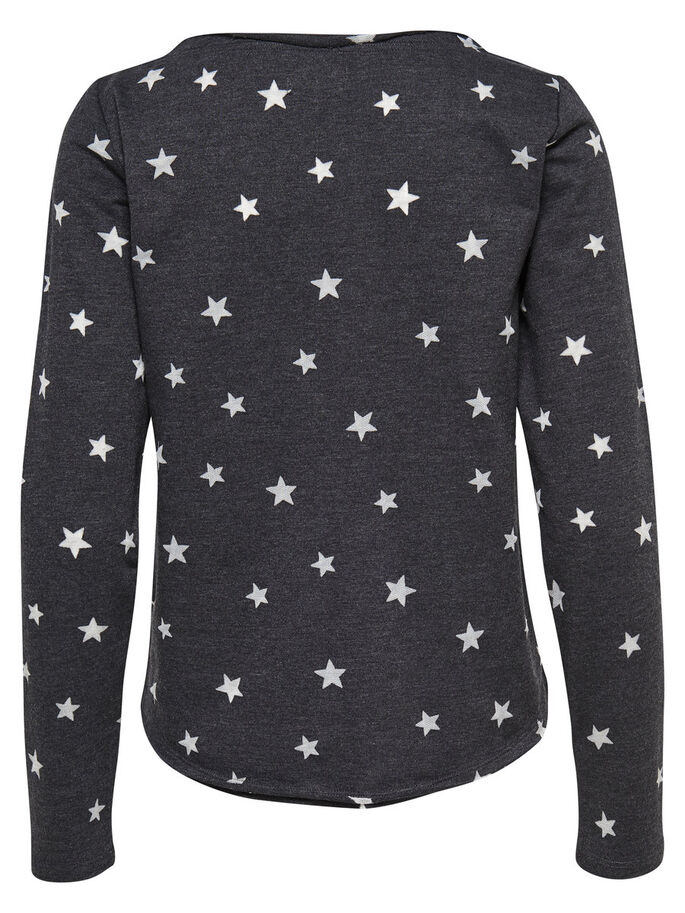 PRINT SWEATSHIRT, Black, large
