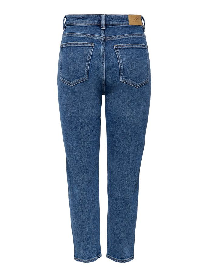 JDYKAJA LIFE HÖGA ANKELLÅNGA STRAIGHT FIT-JEANS, Medium Blue Denim, large