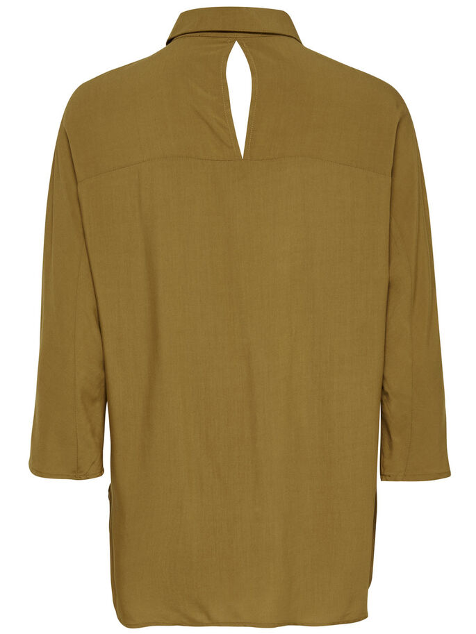 LOOSE LONG SLEEVED SHIRT, Rubber, large