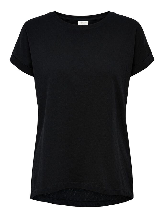 LOOSE FITTED T-SHIRT, Black, large