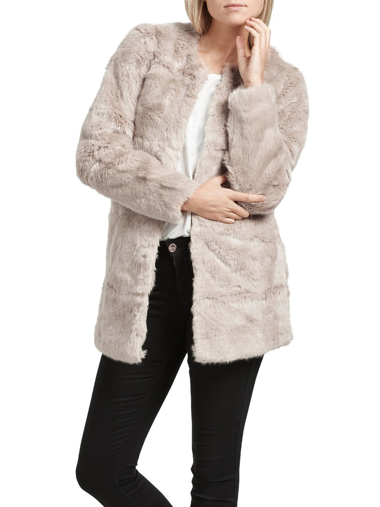 lace up in best place various styles ONLY FAUSSE FOURRURE MANTEAU