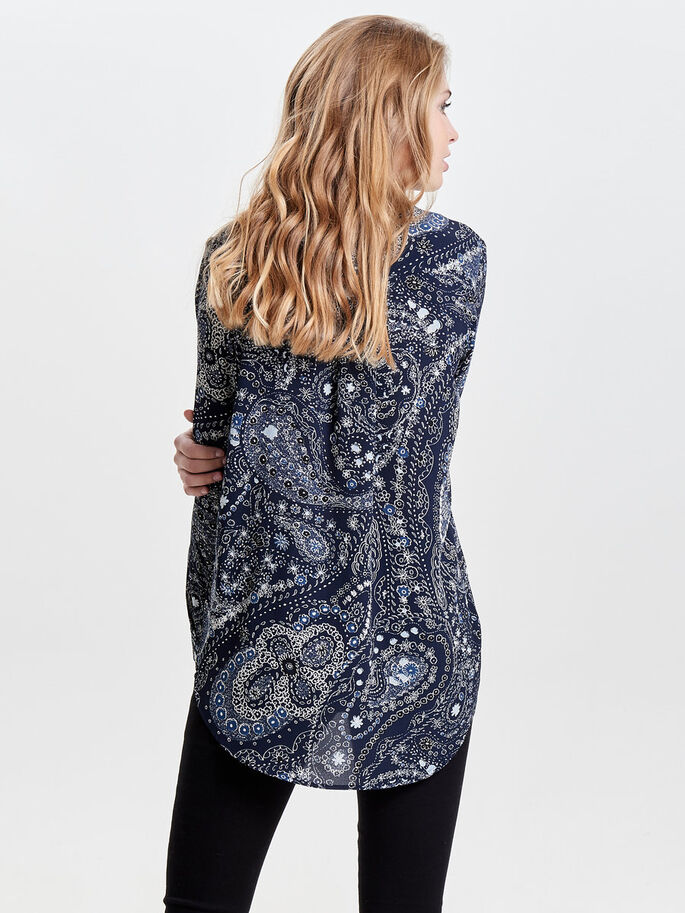 PRINTED LONG SLEEVED SHIRT, Night Sky, large