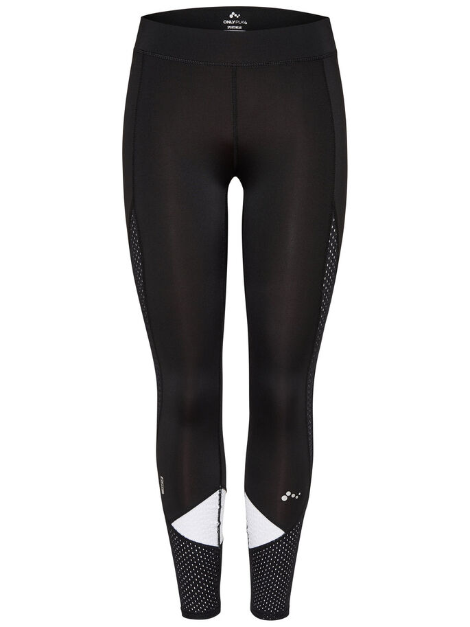 CONTRAST TRAINING TIGHTS, Black, large