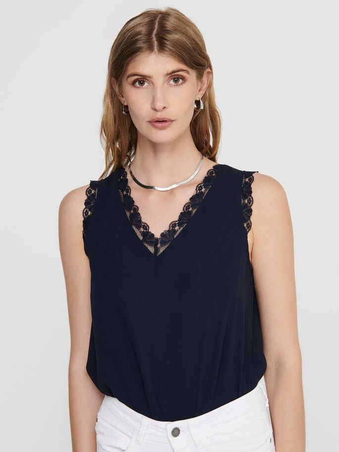 LACE EDGE TOP, Night Sky, large