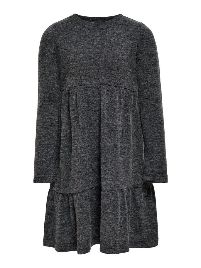 VOLANTS ROBE, Dark Grey Melange, large