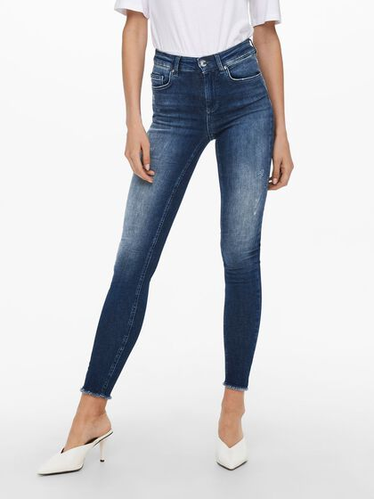 ONLBLUSH LIFE MID ANKLE RAW SKINNY FIT JEANS