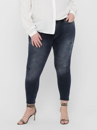 CARWILLY LIFE REG SK ANK RAW SKINNY FIT JEANS