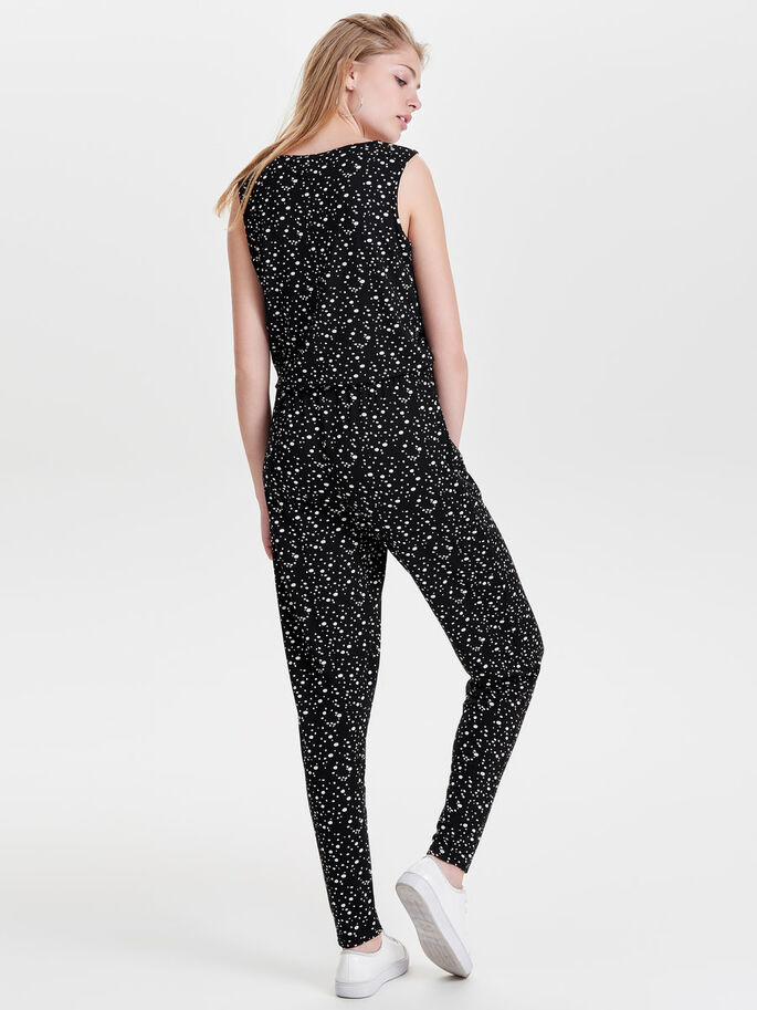 ÄRMELLOSES JUMPSUIT, Black, large