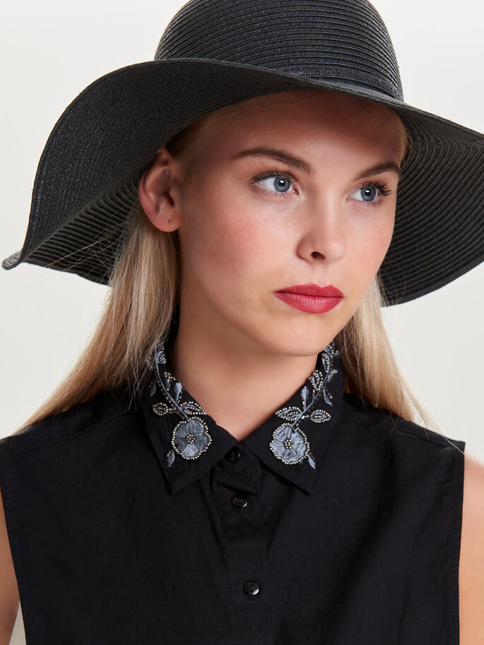 DETAILED COLLAR, Black, large