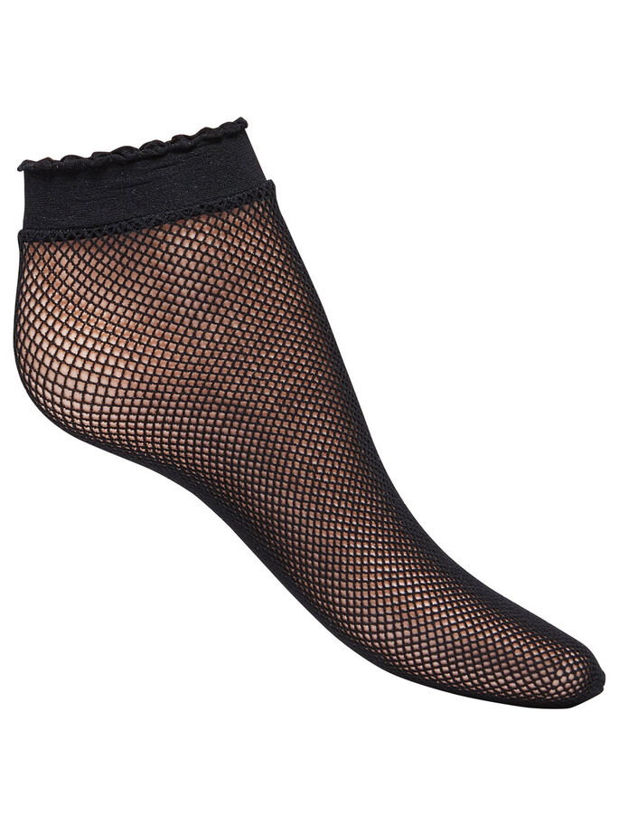 DE REJILLA CALCETINES, Black, large