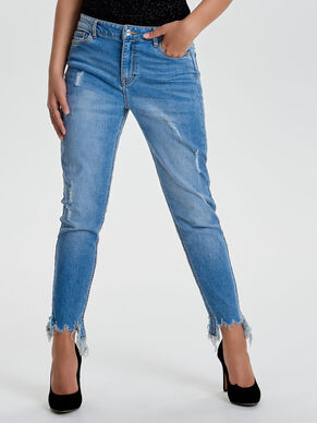 JDY ALBANY LOOSE ANKLE SKINNY FIT JEANS