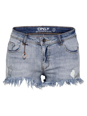 SANS FINITIONS SHORTS EN JEAN