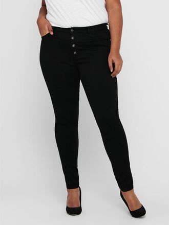 CURVY CARAUGUSTA HW BUTTON SKINNY FIT JEANS