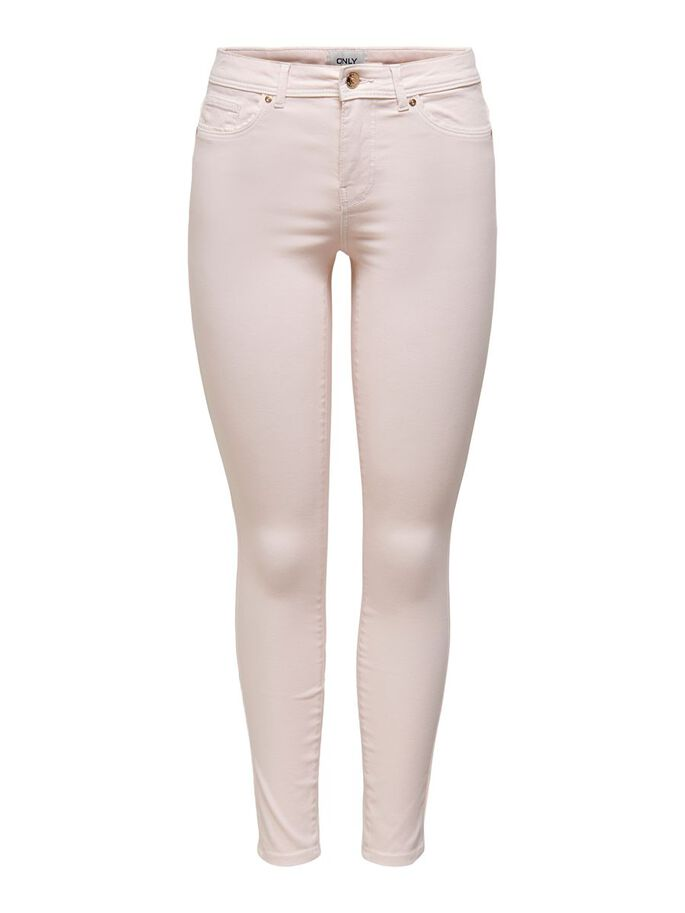 SKINNY COLORED TROUSERS, Primrose Pink, large