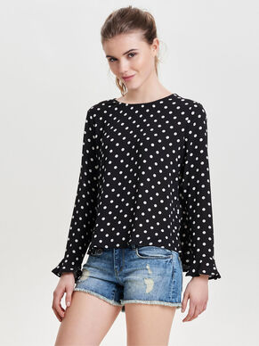 DOTTED LONG SLEEVED TOP