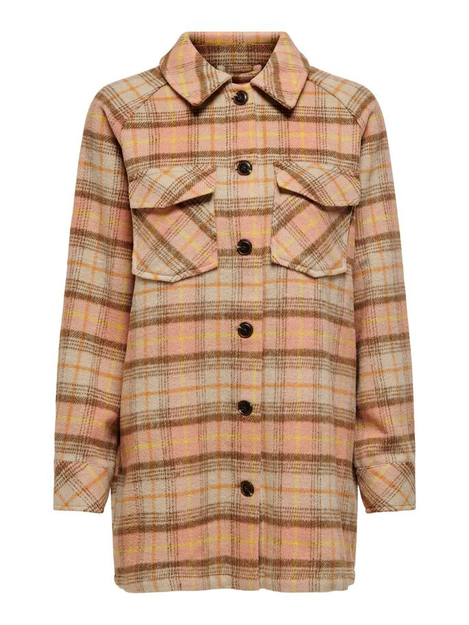 CHECKED JACKET, Black, large