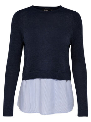 MIXED KNITTED PULLOVER
