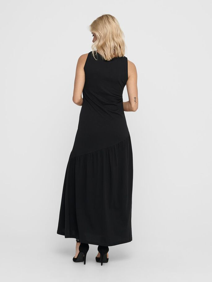 SLEEVELESS MAXI DRESS, Black, large