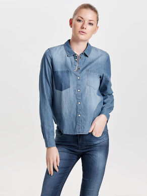 SHORT DENIM SHIRT