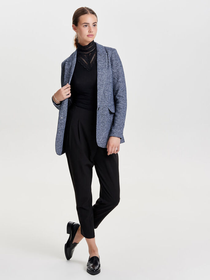 LONG BLAZER, Dark Navy, large