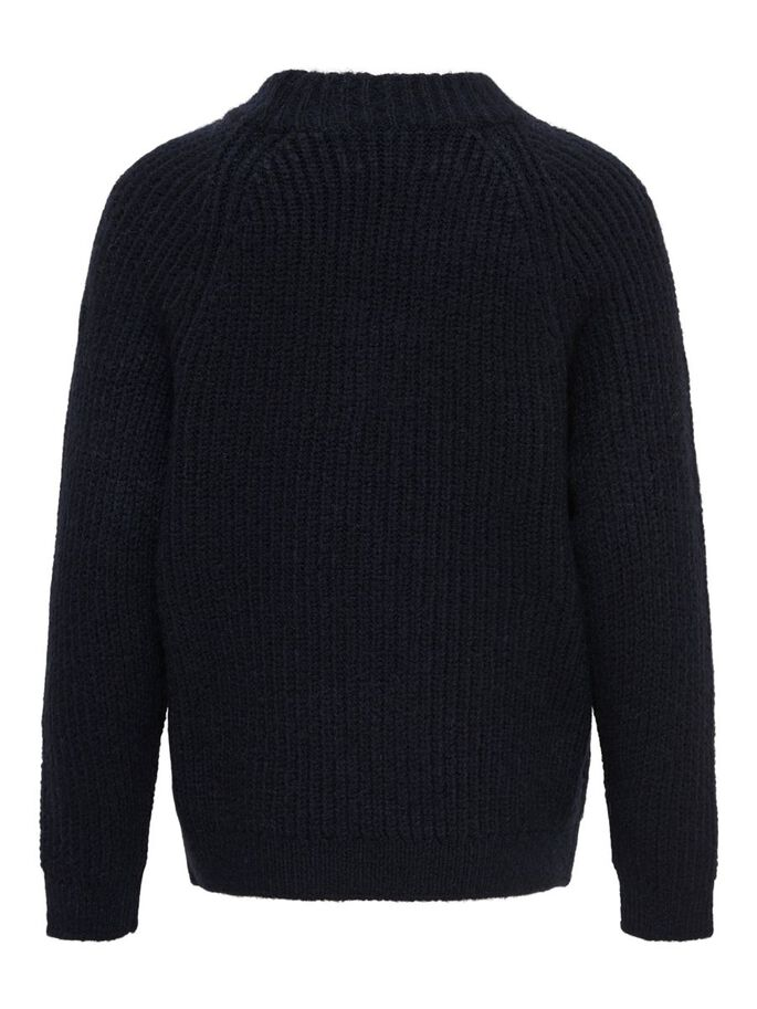 RIB KNITTED PULLOVER, Night Sky, large