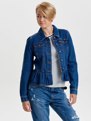 FRILL DENIM JACKET