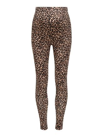 MAMÁ ESTAMPADO DE LEOPARDO LEGGINGS