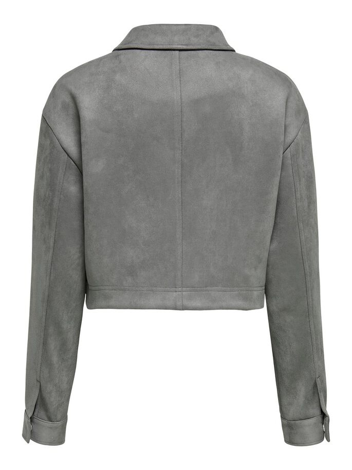 FAUX SUEDE JACKET, December Sky, large