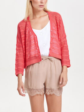 MANCHES 3/4 CARDIGAN EN MAILLE