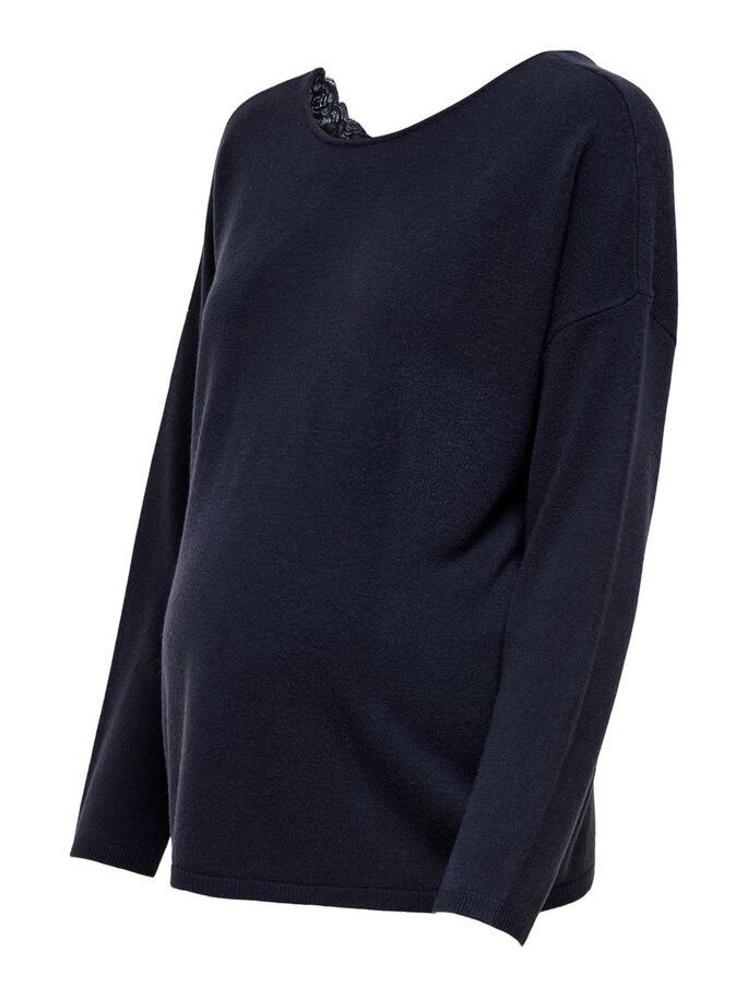 MAMA SPITZE STRICKPULLOVER, Night Sky, large
