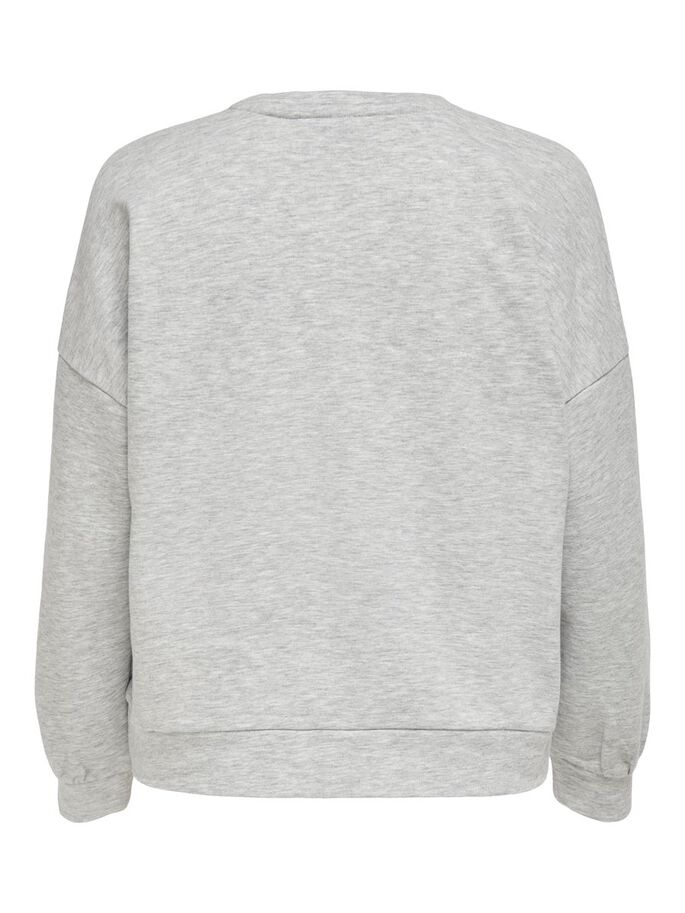 COUPE AMPLE SWEAT-SHIRT, Light Grey Melange, large