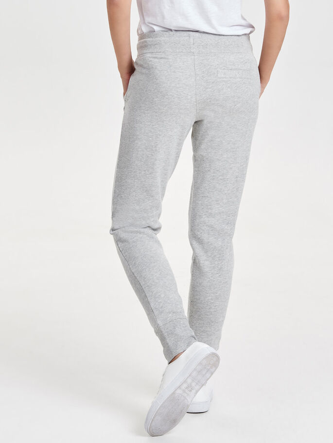 COULEUR UNIE JOGGING EN MOLLETON, Light Grey Melange, large