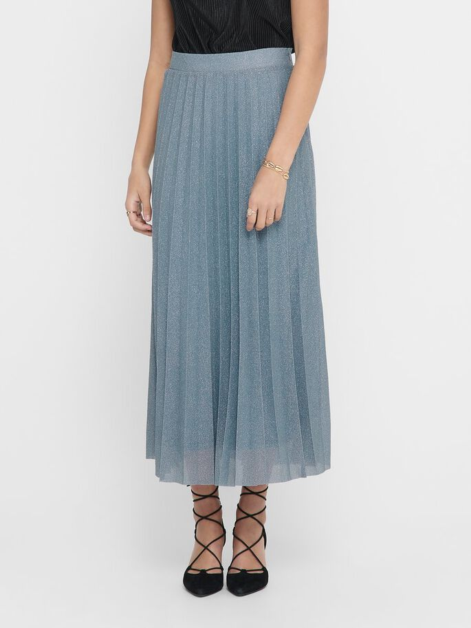 GLITTER MAXI SKIRT, Faded Denim, large