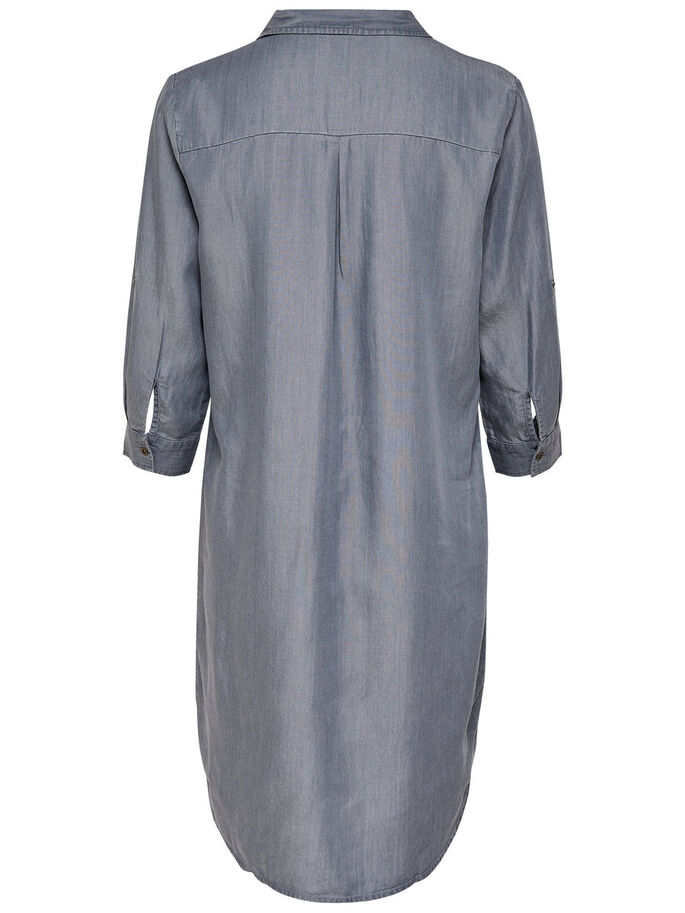 LOCKERES KLEID, Grey Denim, large
