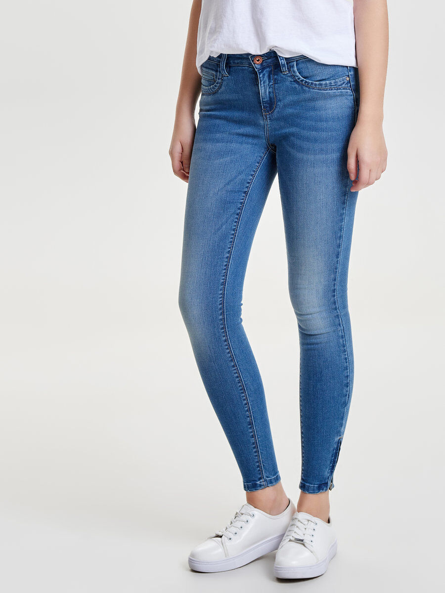 Lala Knöchel Straight Fit Jeans Dames Blauw Only