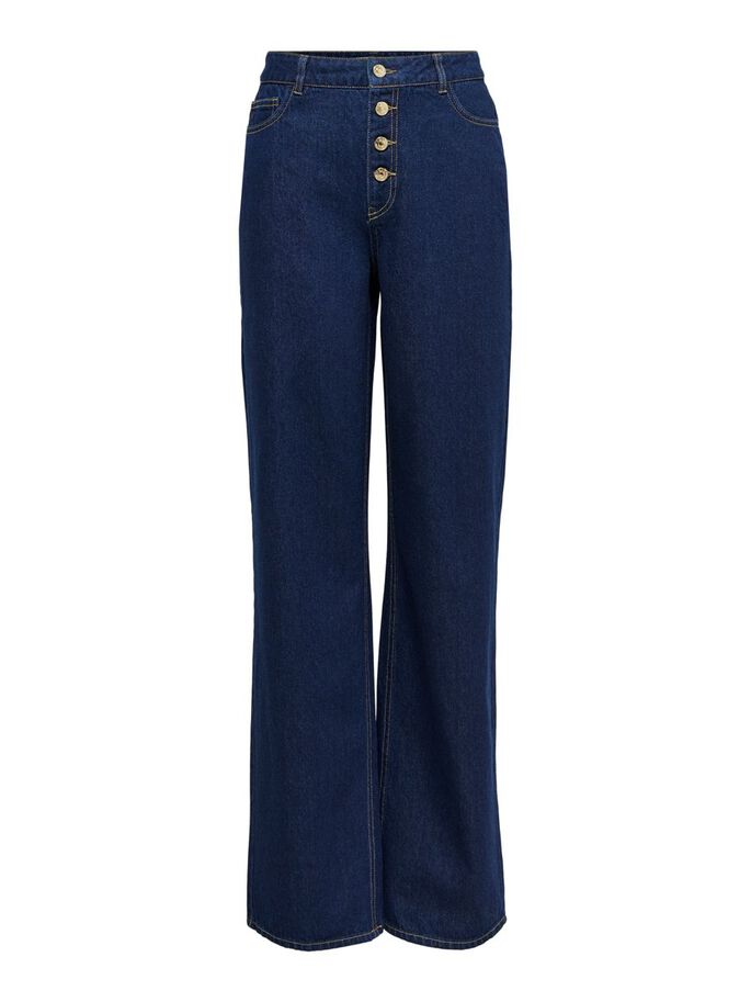 ONLMOLLY HW FLARED JEANS, Dark Blue Denim, large