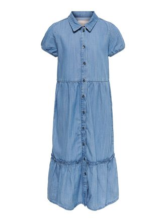 SHORT SLEEVED DENIM DRESS