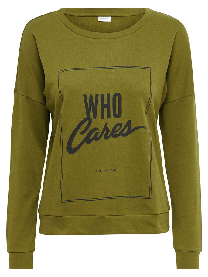 PRINT SWEATSHIRT, Fir Green, large