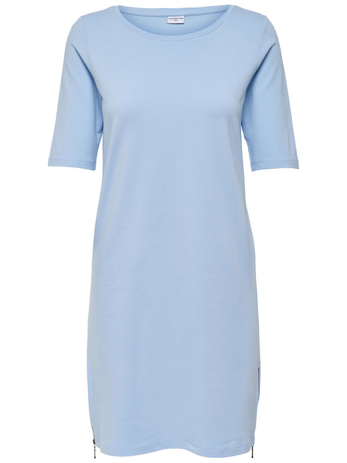 DETAILREICHES KLEID, Cashmere Blue, large