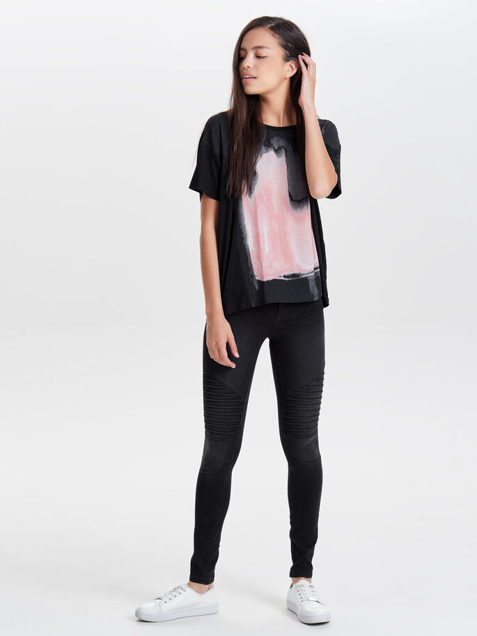 OVERSIZED T-SHIRT, Black, large