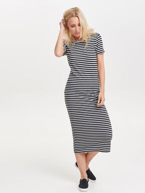 STRIPED SHORT SLEEVED DRESS