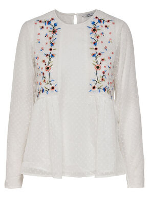 EMBROIDERY LONG SLEEVED TOP