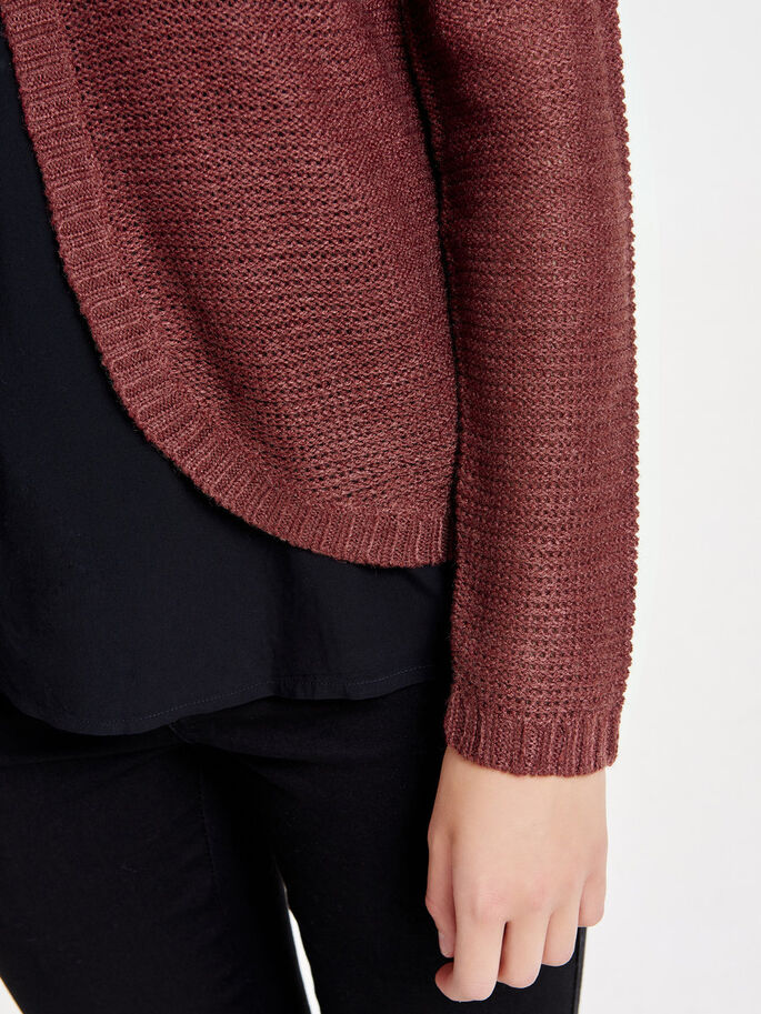 SOLID KNITTED CARDIGAN, Syrah, large