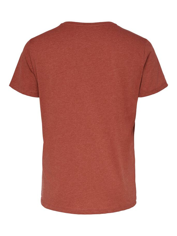 CURVY PRINTED T-SHIRT, Red Ochre, large