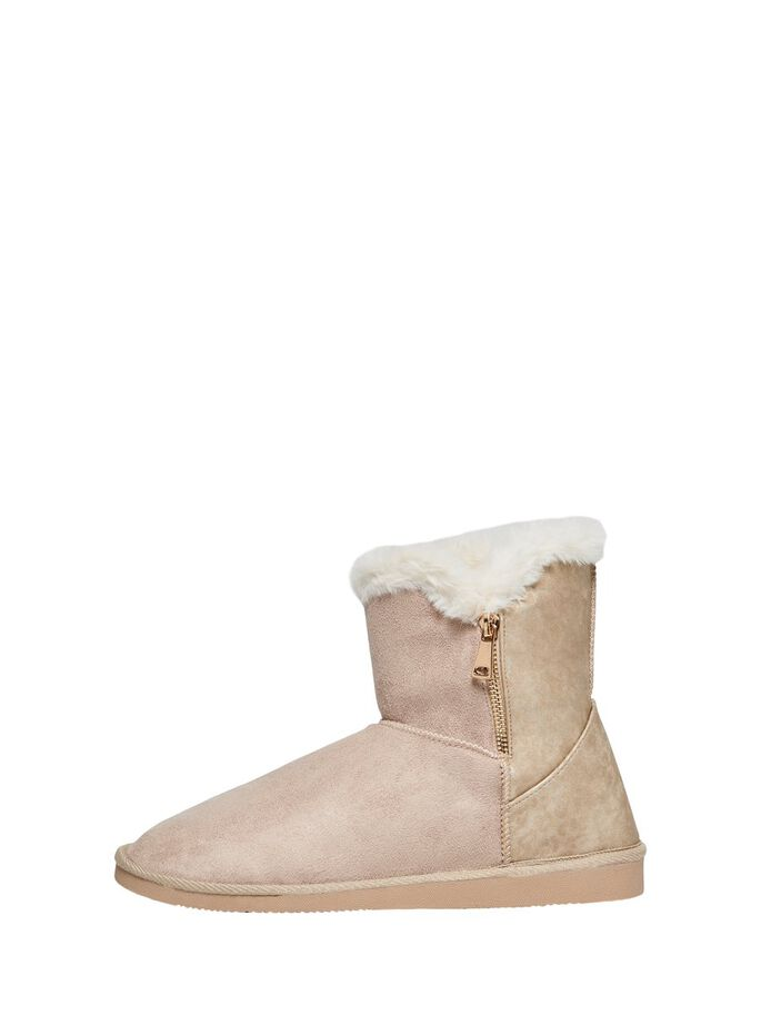 TEDDY BOOTS, Sand, large