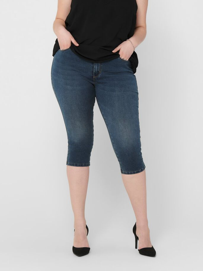 CURVY CARAUGUSTA LIFE HW SKINNY CAPRIS, Medium Blue Denim, large