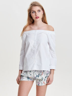 OFF SHOULDER LONG SLEEVED SHIRT