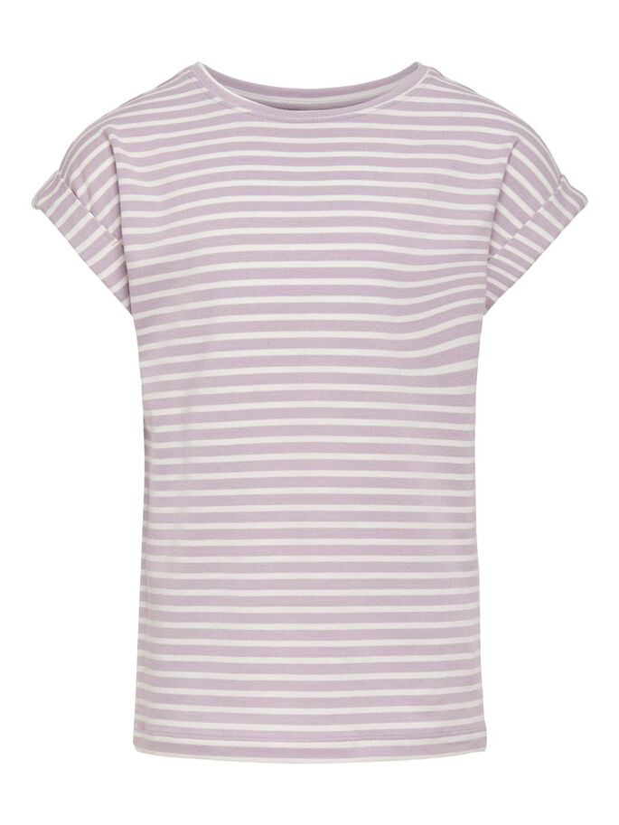 STRIPED TOP, Lavender Frost, large