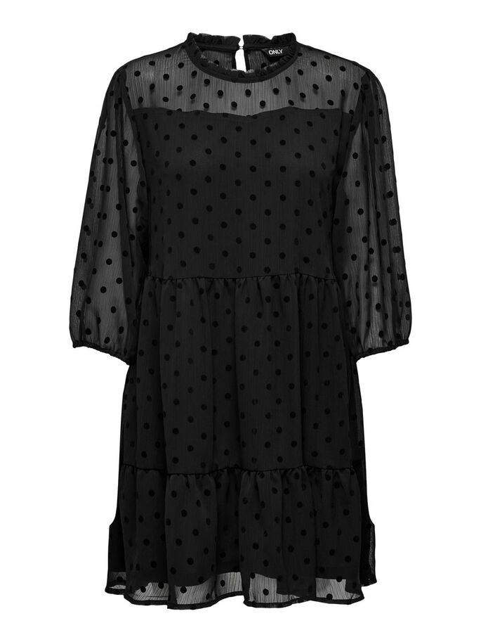 DOTTED DRESS, Black, large